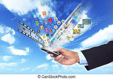 για , μοιρασιά , επιχείρηση , εικόνα , πολυμέσα , τηλέφωνο , σχετικός με την σύλληψη ή αντίληψη , δεδομένα , ή , κομψός