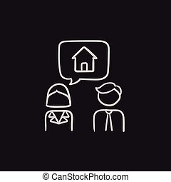για , σπίτι , ζευγάρι , δραμάτιο , ονειρεύομαι , icon.