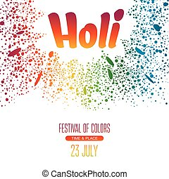 γιορτή , αφίσα , holi