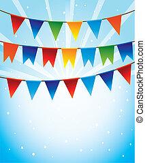 γιορτή , ευφυής , μικροβιοφορέας , σημαίες , φόντο