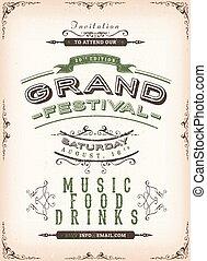 γιορτή , κρασί , φόντο , αφίσα
