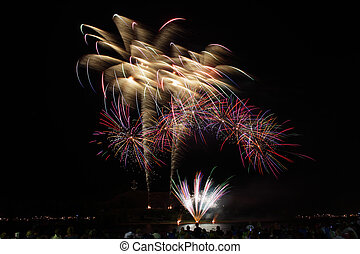 γιορτή , πυροτεχνήματα
