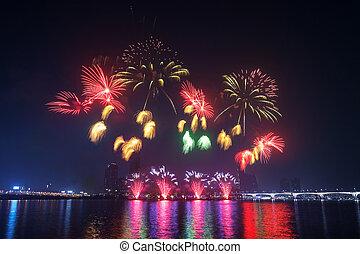 γιορτή , korea., πυροτεχνήματα