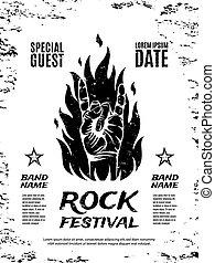 γιορτή , poster., grunge , βράχοs