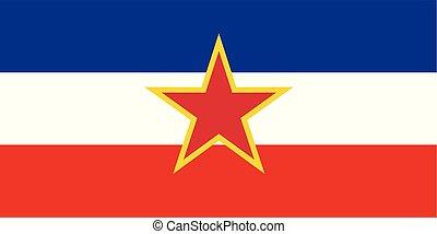 γιουγκοσλαβία , εθνική σημαία