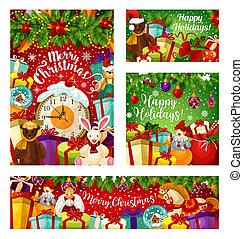 γιρλάντα , δώρο , χαιρετισμός , έτος , καινούργιος , χριστουγεννιάτικη κάρτα