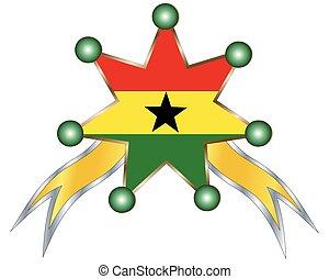 γκάνα , εθνικός , μετάλλιο , σημαία