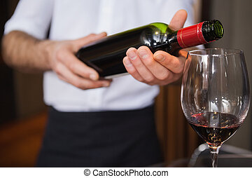 γκαρσόνι , αναβλύζω , αριστερός δέμα , κρασί