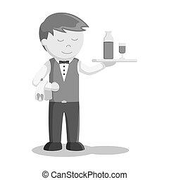 γκαρσόνι , ζωή , σερβίρισμα , πίνω
