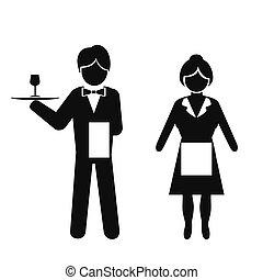 γκαρσόνι , σερβιτόρα , εικόνα