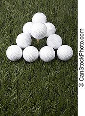 γκολφ μπάλα , επάνω , γρασίδι