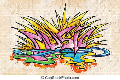 γκράφιτι , ρυθμός , μουσική , φόντο