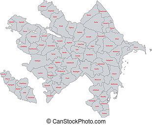 γκρί , αζερμπαϊτζάν , χάρτηs
