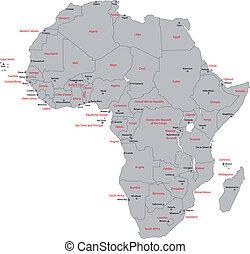 γκρί , αφρική , χάρτηs