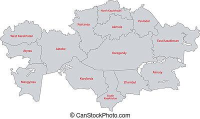 γκρί , καζακστάν , χάρτηs