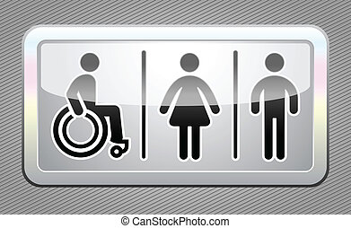 γκρί , κουμπί , τουαλλέτα , σύμβολο