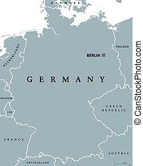 γκρί , χάρτηs , πολιτικός , γερμανία , έγχρωμος