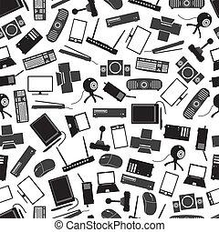 γκρί , eps10, πρότυπο , ηλεκτρονικός υπολογιστής , μαύρο , peripherals