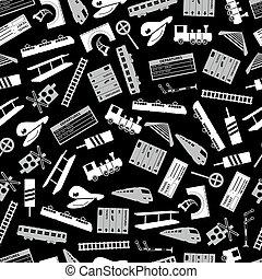 γκρί , eps10, πρότυπο , τρένο , μαύρο , σιδηρόδρομος