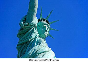 γκρο πλαν , άγαλμα , ελευθερία