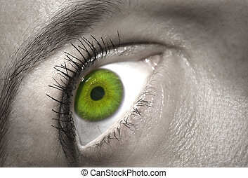 γκρο πλαν , μάτι , γυναίκα