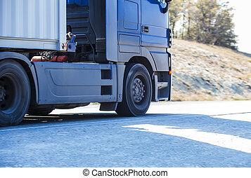 γκρο πλαν , φορτηγό , εθνική οδόs