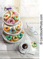 γλυκός , κουζίνα , ηλιόλουστος , donuts