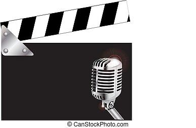 γλώσσα κωδώνος , μικρόφωνο , πίνακας
