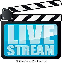 γλώσσα κωδώνος , livestream, πίνακας