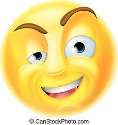 γοητευτικός , emoji, emoticon