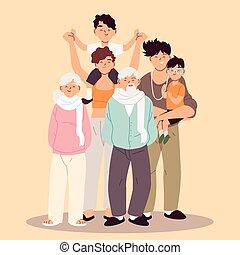 γονείς , παιδιά , οικογένεια , μεγάλος , παππούς και γιαγιά