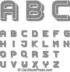γράμματα , αλφάβητο , μαύρο , ραβδωτός , κολυμβύθρα , 3d