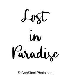 γράμματα , αόρ. του lose , χέρι , φόντο , παράδεισος , άσπρο