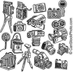 γράφω άσκοπα , δραμάτιο , φωτογραφηκή μηχανή , θέτω , απεικόνιση