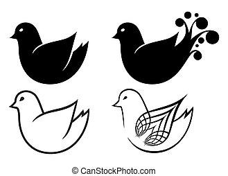 γράφω άσκοπα , θέτω , πουλί , γελοιογραφία , απεικόνιση