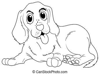 γράφω άσκοπα , σκύλοs , ζώο , χαριτωμένος