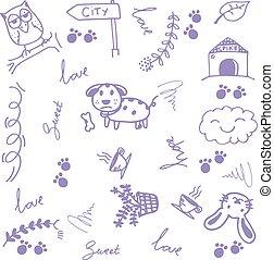 γράφω άσκοπα , τέχνη , ζώο , ευτυχισμένος