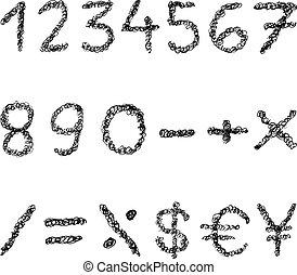 γράφω απροσεκτώς , αριθμοί