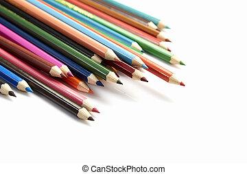 γράφω , διαφορετικός , έγχρωμος , πολοί , φόντο , άσπρο