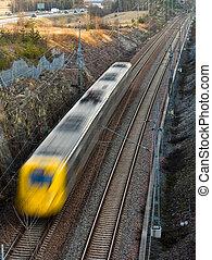 γρήγορα , τρένο