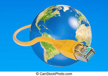 γρήγορα , internet ανταπόκριση , concept., 3d , απόδοση