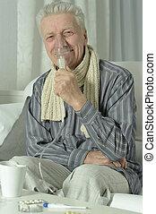 γρίπη , εισπνοή , ηλικιωμένος ανήρ