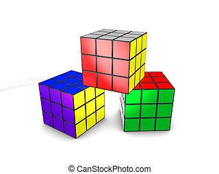 γρίφος , κύβος , 3d , rubic, εικόνα