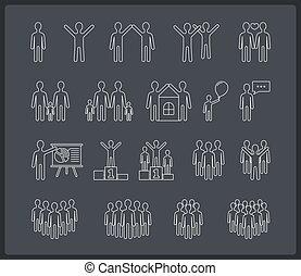 γραμμή , άνθρωποι , απεικόνιση