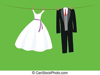 γραμμή , γάμοs , ρούχα