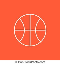 γραμμή , καλαθοσφαίρα , icon., μπάλα