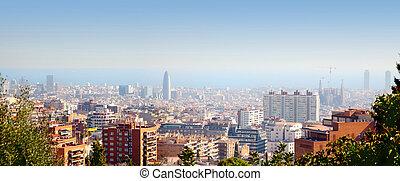 γραμμή ορίζοντα , μεσόγειος θάλασσα , βαρκελώνη , βλέπω