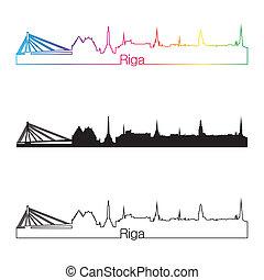 γραμμή ορίζοντα , ουράνιο τόξο , ρυθμός , riga , γραμμικός
