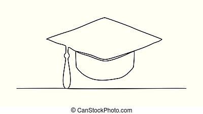 γραμμή , σκούφοs , ζωγραφική , αποφοίτηση , εις