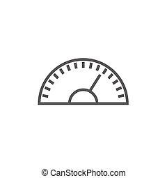 γραμμή , ταχύμετρο , icon.